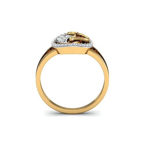 18kt Yellow Gold Pave 0.18ct Diamond Infinity Ring II ,[product vendor],JewelStreet