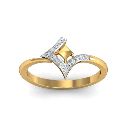18Kt Yellow Gold Quintessential Diamond Engagement Ring-Rings-Diamoire Jewels-JewelStreet