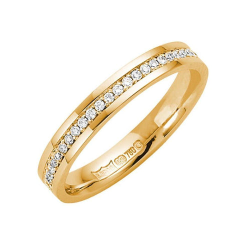 18kt Yellow Gold Round Diamond Eternity Wedding Ring ,[product vendor],JewelStreet
