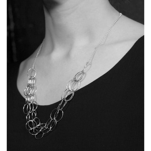 3 Line Cascade Necklace-Necklaces-Heather O Connor-JewelStreet