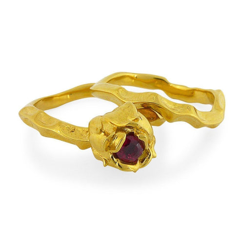 9kt Fairtrade Yellow Gold Briar Rose Ring-Rings-Rachel Helen Designs-JewelStreet