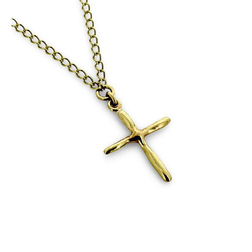 9kt Gold Cross-Necklaces-Will Bishop-JewelStreet