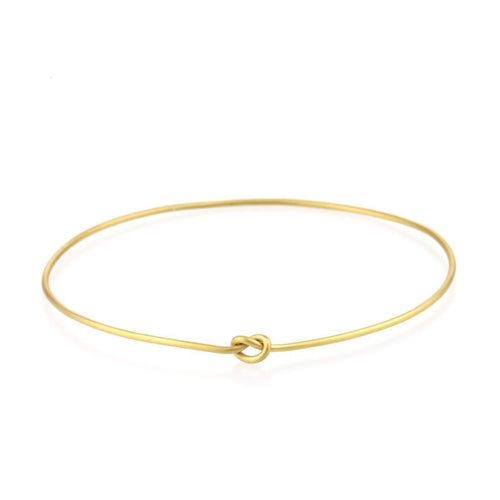 9kt Gold Knot Bangle-Bracelets-Prism Design-JewelStreet
