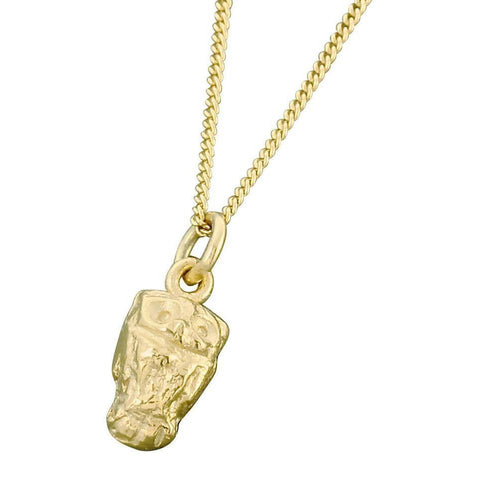 9kt Gold Little Owl Pendant-Necklaces-Bridget Wheatley Jewellery-JewelStreet