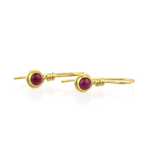 9kt Gold Ruby Earrings-Earrings-Prism Design-JewelStreet