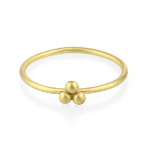 3e0458ef57c 9kt Gold Small Beads Sulis Ring | JewelStreet