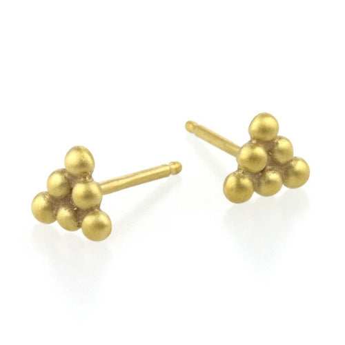 9kt Gold Small Sulis Studs-Earrings-Prism Design-JewelStreet