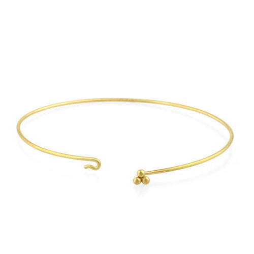 9kt Gold Sulis Small Bead Bangle-Bracelets-Prism Design-JewelStreet