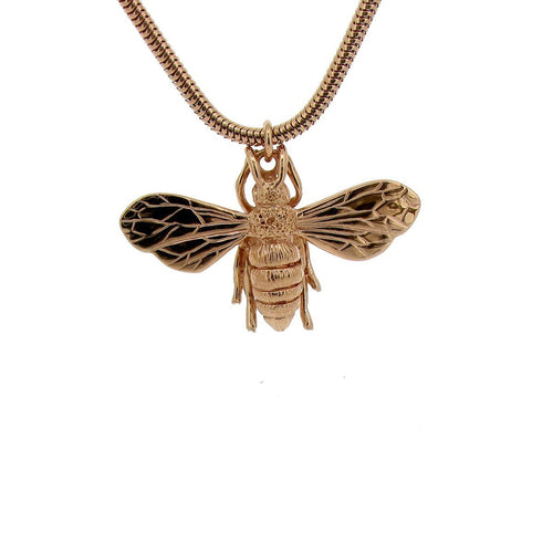 9kt Rose Gold Honey Bee Necklace ,[product vendor],JewelStreet