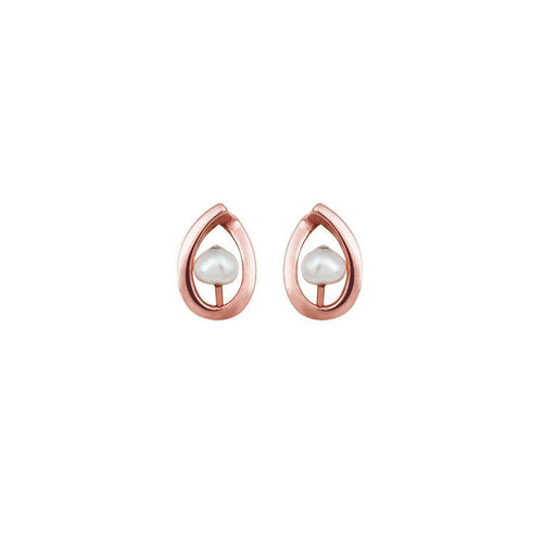 9kt Rose Gold Maia Earrings Up-Earrings-September Rose-JewelStreet