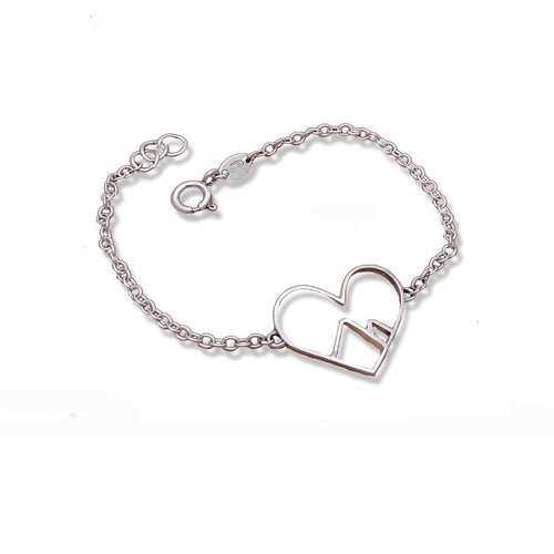 9kt White Gold Love the Mountains Bracelet ,[product vendor],JewelStreet