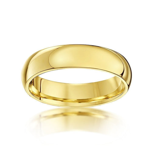 9kt Yellow Gold Extra HeavyCourt-Shape Wedding Ring (Available In Various Widths)-Rings-Star Wedding Rings-JewelStreet