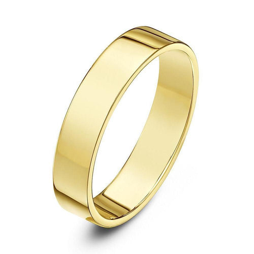9kt Yellow Gold Flat Court Shape Wedding Ring ,[product vendor],JewelStreet