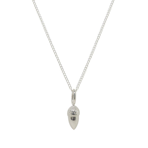 Acorn Silver Charm-Necklaces-Katie Mullally-JewelStreet