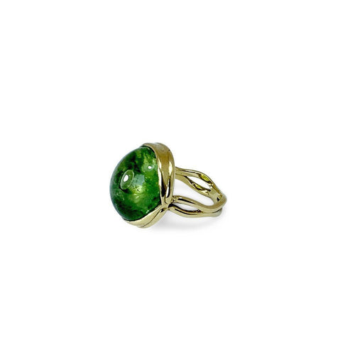 ACROSI Yellow Gold & Green Tourmaline Ring-Rings-Serena Fox-JewelStreet