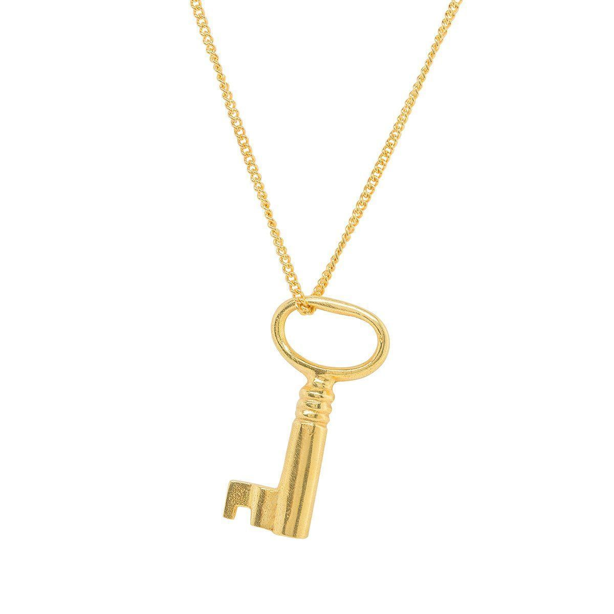 Katie Mullally Perfect Gold Plated Key Charm vpg03hQ