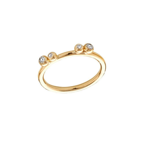 Aestivation Double Diamond Stacking Ring-Rings-Yen Jewellery-JewelStreet