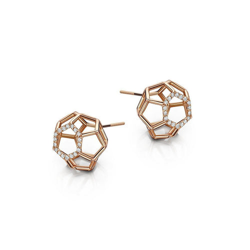 Air Sphere Rose Gold Earrings-Earrings-Goldneilson-JewelStreet