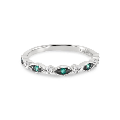 Alina Emerald Stacking Ring-Rings-Estenza-JewelStreet