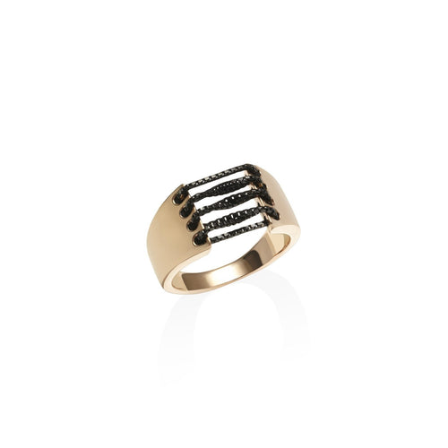Allure Rose Gold Ring-Rings-Anakao-JewelStreet