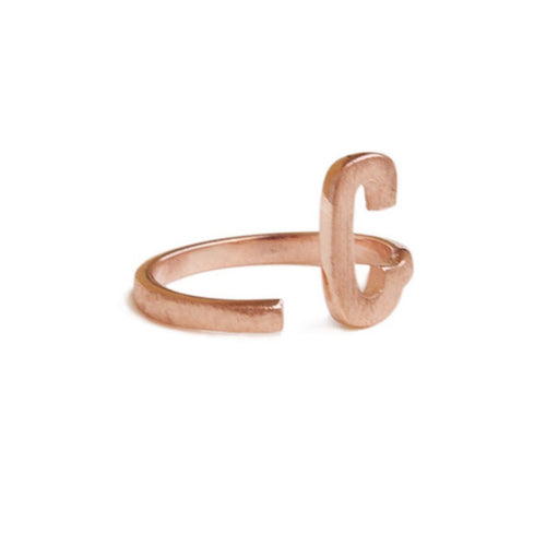Alphabet - C Ring-Rings-ZLABA-JewelStreet