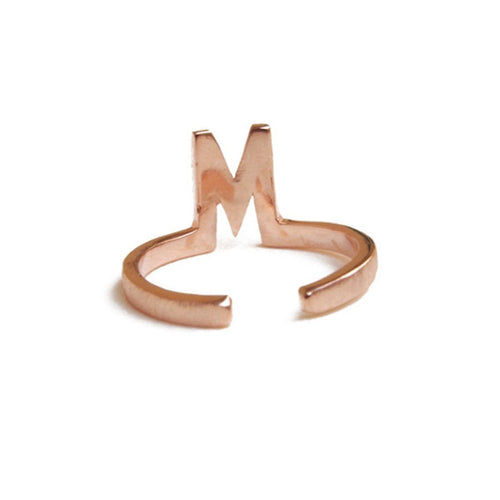 Alphabet - M Ring-Rings-ZLABA-JewelStreet