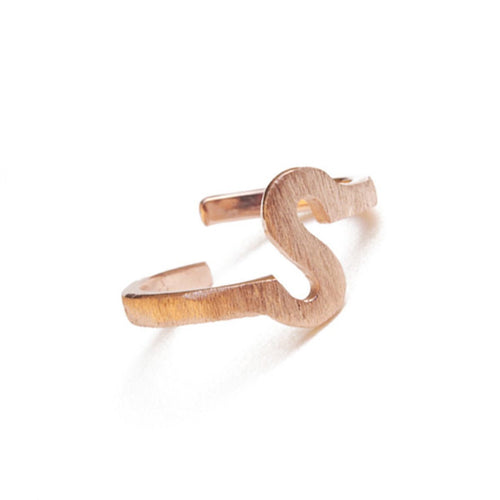 Alphabet - S Ring-Rings-ZLABA-JewelStreet