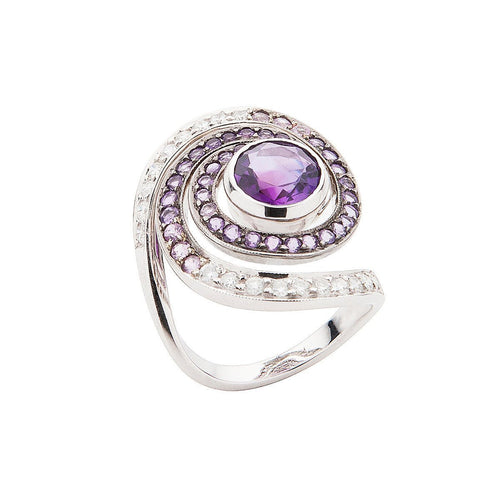 Amethyst Galaxy Ring-Rings-Luis Miguel Howard-JewelStreet