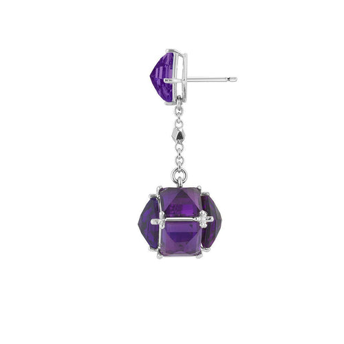 Amethyst Very PC Earrings, Petite-Earrings-Paolo Costagli New York-JewelStreet