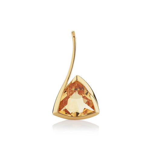 Amore Gold Citrine Pendant ,[product vendor],JewelStreet