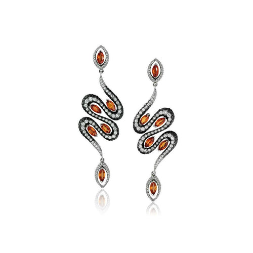 Amore Serpent Earrings-Earrings-Niquesa Fine Jewellery-JewelStreet