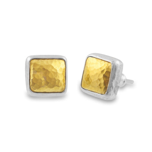Amulet Square Stud Earrings-Earrings-GURHAN-JewelStreet