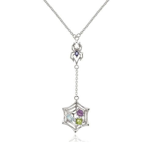 Anansi Iolite, Blue Topaz, Amethyst & Peridot Necklace ,[product vendor],JewelStreet