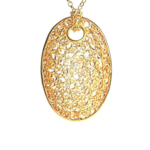 Andalucia Filigree Pendant-Necklaces-Agora Jewellery-JewelStreet