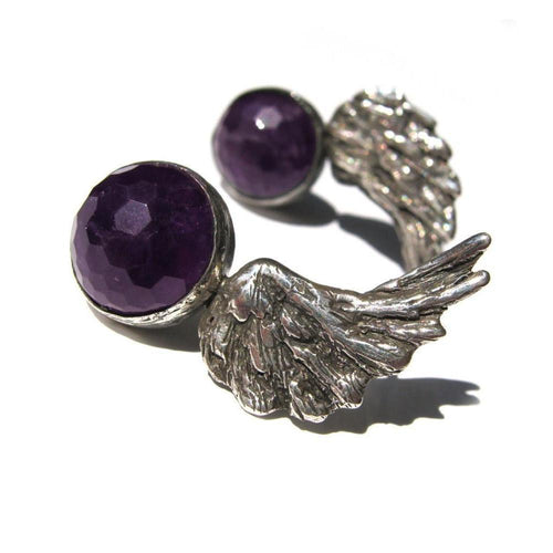 Angel Wings Earrings-Earrings-Toosis-JewelStreet