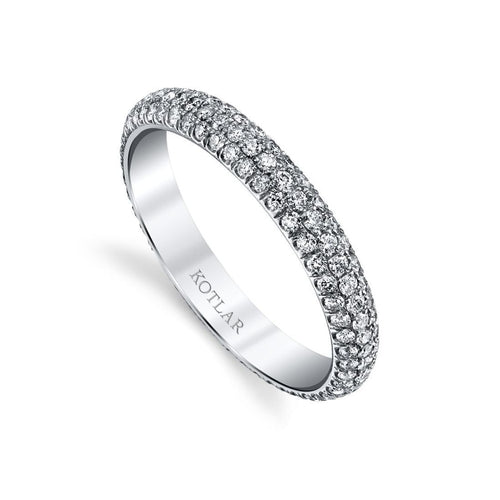 Arabesque 3 Row Pave Band-Rings-Harry Kotlar-JewelStreet