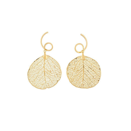 Arabesque earrings Savannah's Leaf - Natural Shape-Earrings-Amazona Secrets-JewelStreet