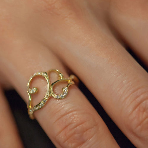 Arabesque Trail Crossing Ring-Rings-ileava jewelry-JewelStreet