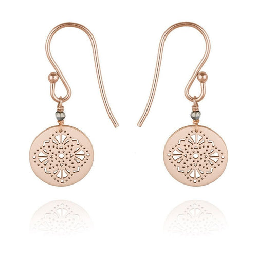 Art deco Earrings 9kt Rose Gold-Earrings-Perle de Lune-JewelStreet