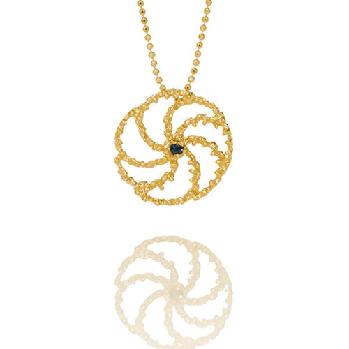 Asterias 202 Gold Plated Necklace ,[product vendor],JewelStreet