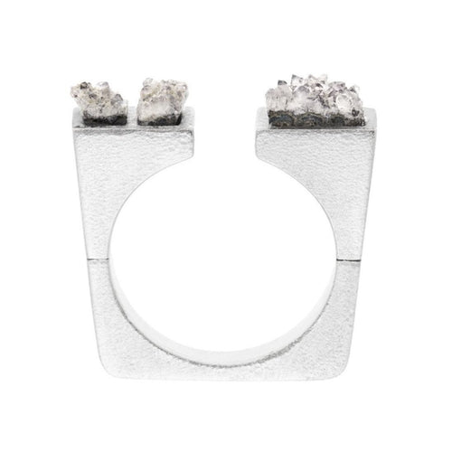 Asymmetrical Crystal Ring-Rings-Pasionae-JewelStreet