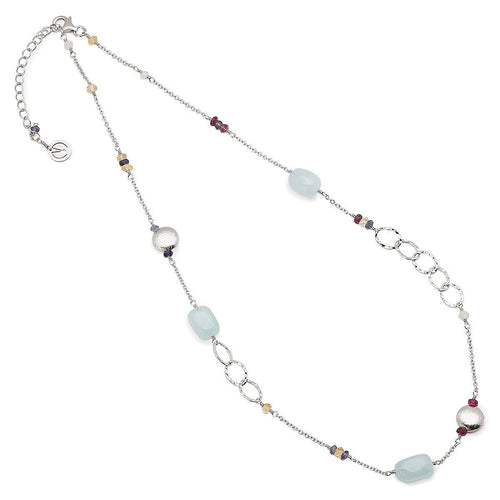 Azura Aquamarine Necklace - 16-18 Inches ,[product vendor],JewelStreet