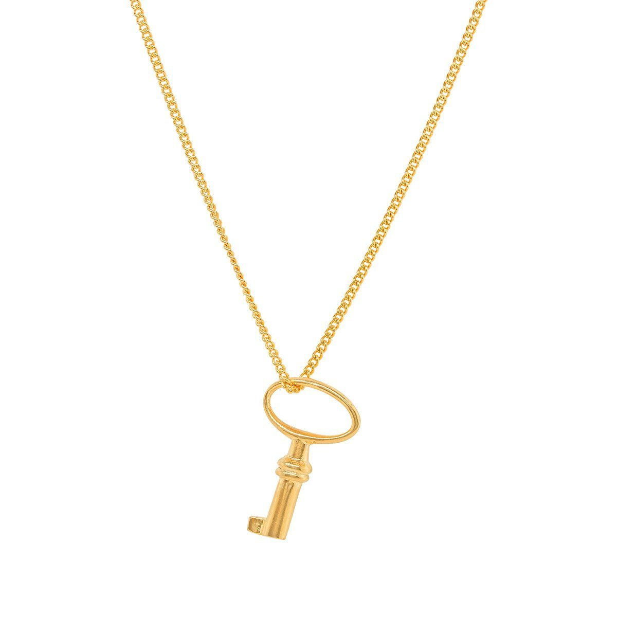 Katie Mullally Adult Gold Plated Key Charm CrYFU2J