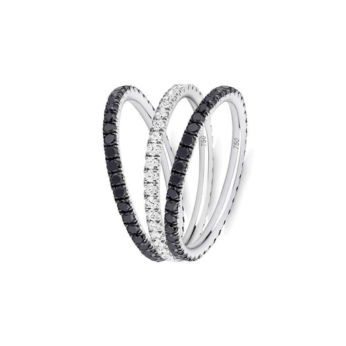 Back to Black 3-Ring Combination ,[product vendor],JewelStreet