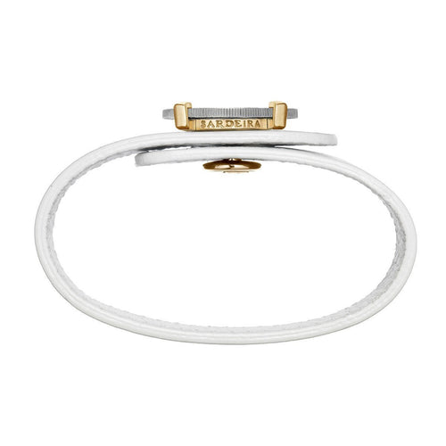 Be Priceless Bracelet White Gold and Yellow Gold-Bracelets-SARDEiRA-JewelStreet