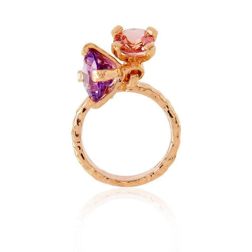 Belle Dangle Amethyst Tourmaline Ring ,[product vendor],JewelStreet