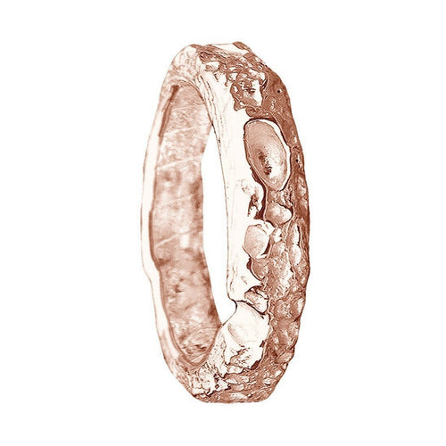 Bespoke Cornish Beach Sand Textured Handmade 18kt Rose Gold Wedding Ring ,[product vendor],JewelStreet
