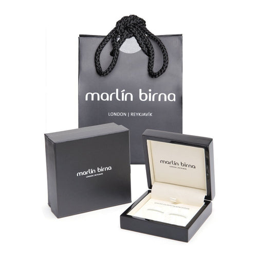 Black Atlantic Salmon Leather Cufflinks - Black Finish-Cufflinks-Marlin Birna-JewelStreet