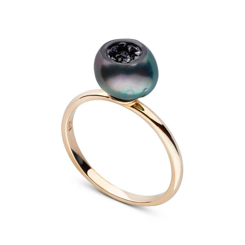 Black Diamond Finestrino Ring-Rings-little h-JewelStreet
