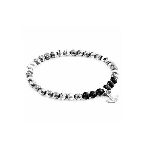 Black Onyx Keel Silver And Stone Bracelet ,[product vendor],JewelStreet
